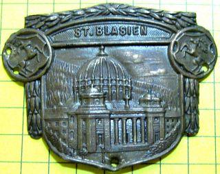 Alter Vor 1945 Prägebild Stocknagel B4 Dom St.  Blasius In Sankt Blasien Bild