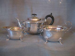 Teeservice,  3 Teile,  Silver Plated,  Epns,  Um 1900,  S.  J.  Levi & Co,  Birmingham Bild