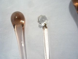 Murano Kristall Tropfen,  Glastropfen,  Rosé,  Inkl.  Zwischenkristall,  17 Cm,  20x Bild