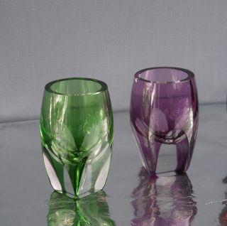 1,  1 Likörglas Schnapsglas Überfang Glas Aleksandritglas Nachtmann,  Moser,  Bömen Bild