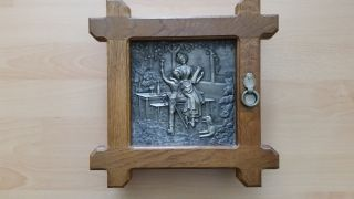 Schlüßelkasten Aus Holz Mit Bild Im Rahmen Bild