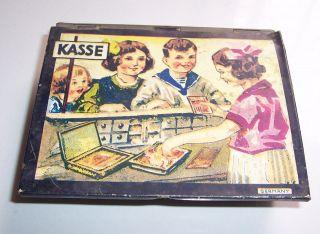 Alte Blechkasse Für Kaufmannsladen Blechschachtel Germany Um 1940 Bild