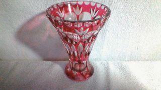 Kristall Vase Schönes Rot Bild
