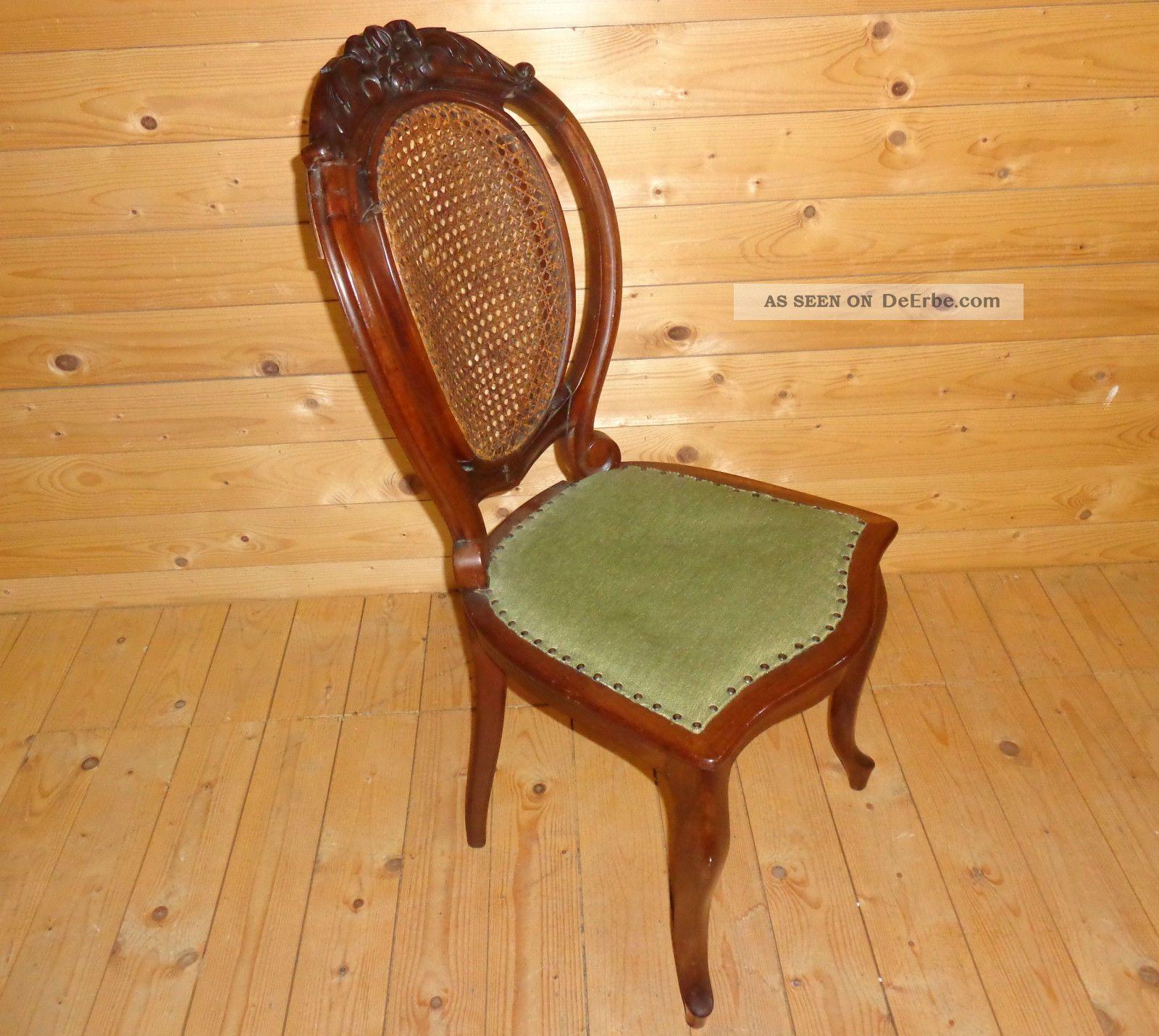 antik louis philippe salon stuhl polsterstuhl nussbaum. Black Bedroom Furniture Sets. Home Design Ideas