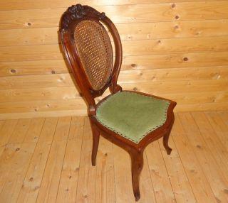 Antik Louis Philippe Salon Stuhl Polsterstuhl Nussbaum Salonstuhl B Bild