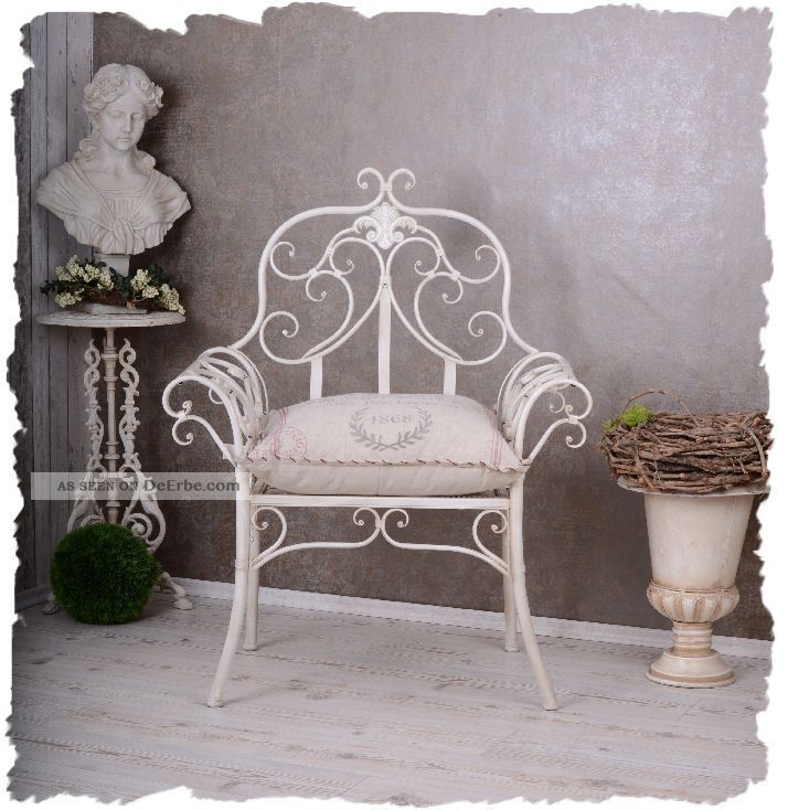 viktorianischer gartenstuhl vintage sessel wiess stuhl. Black Bedroom Furniture Sets. Home Design Ideas