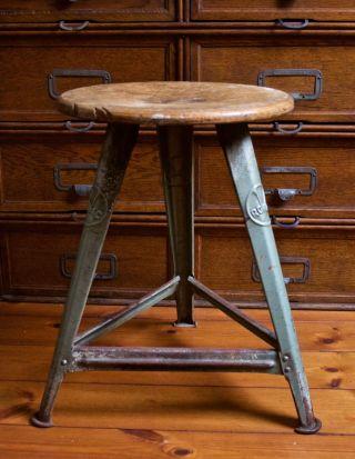 Rowac Werkstatt Hocker (bauhaus / Industrie Design) Machinist Vintage Stool Bild