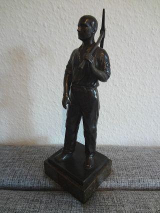 Bergmann - Arbeiter - Hans Harders - 1920/30 - Bergbau - Zeche - Stempel - Metall - Guss - Figur Bild