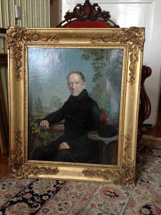 Gutsherrn PortrÄit Ca 1850 Bild