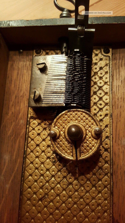 antike spieluhr polyphon um 1900. Black Bedroom Furniture Sets. Home Design Ideas
