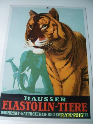 Hausser Elastolin Plakat Pappaufsteller Werbeblatt Reklame Aus Pappe Sammler Bild