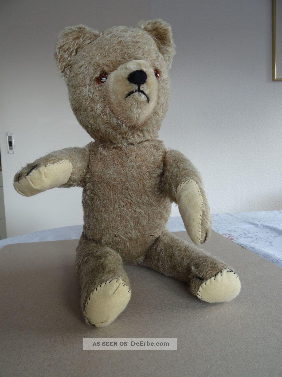 Antiquarischer Teddy Bär Mit Brummstimme Aus Den 60ziger Jahren Stofftiere & Teddybären Bild