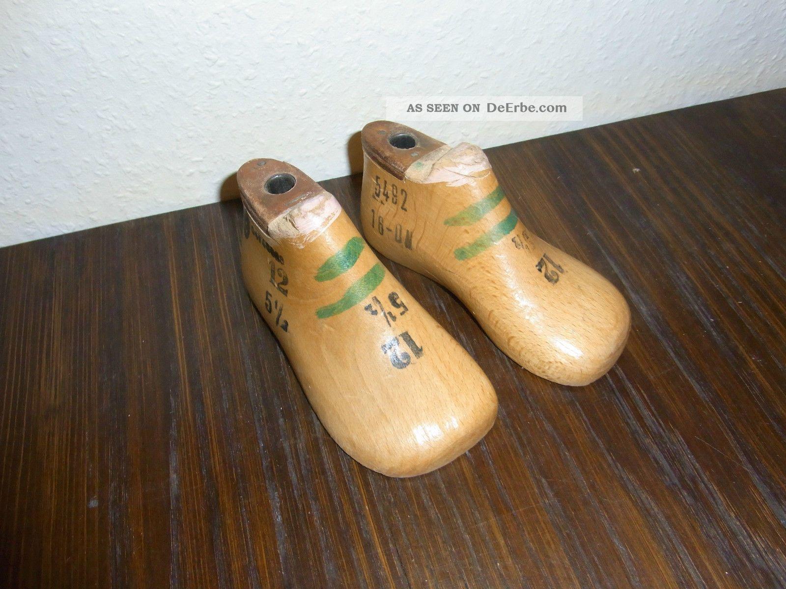 alte Kinder Schusterleisten Schuhleisten 1 Paar 15,5cm lang schön