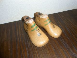 Alte Kinder Schusterleisten / Schuhleisten 1 Paar 12cm Lang 5 1/2 Breit Mini Bild