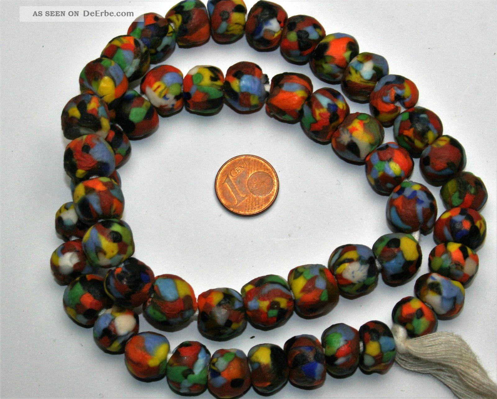 Krobo Dogon recycled Glas Perlen Ghana