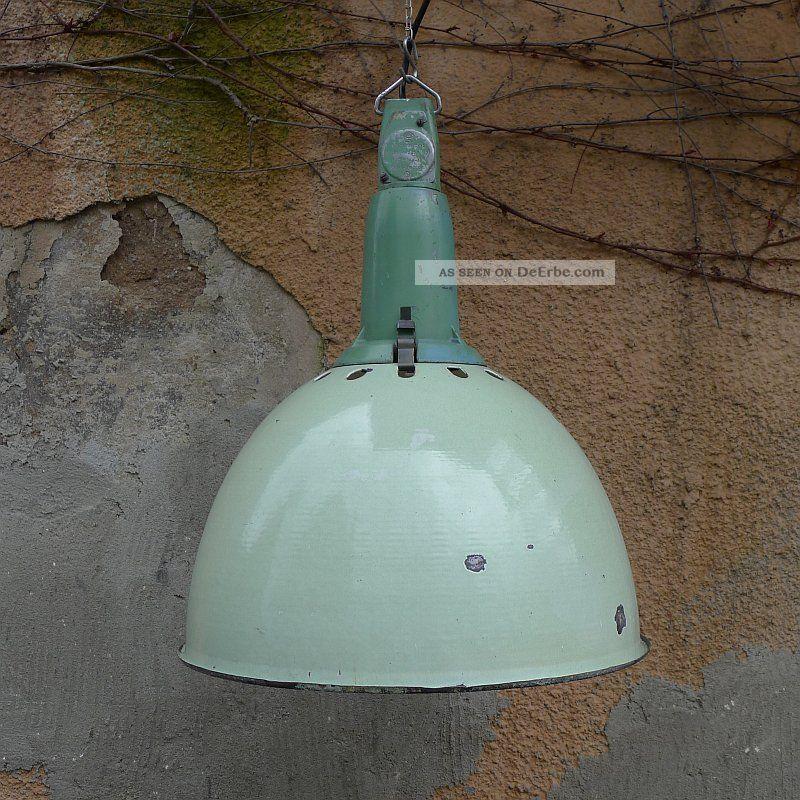 alte industrielampe emaille lampe fabriklampe vintage. Black Bedroom Furniture Sets. Home Design Ideas