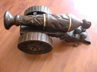 Kanone - Dekoration - Aus Holz - Aus Spanien - Handarbeit Bild