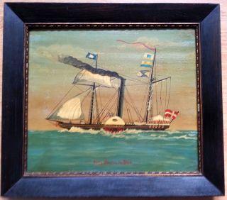 Schönes Altes Schiffsporträt Kapitänsbild Um 1900 Bild