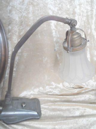 2156 Tischlampe Jugendstil Lampe 1920 Hartblei Table Lamp Schreibtischlampe 34cm Bild