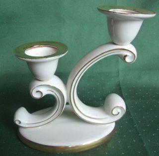 Kronach Oca Bavaria Kerzenleuchter Art Deco Nr.  117 2armig Echt Golddekor Bild