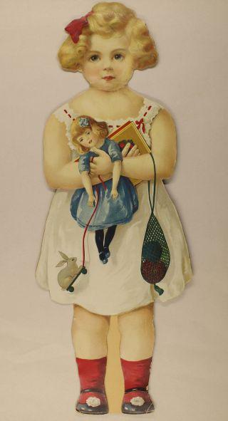 Entzückende Anziehpuppe Um 1900 Mit Versch.  Kleidern Bild