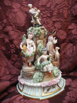 Große Porzellangruppe Nr.  2 Samson Paris Um 1880 Gärtnerkinder Originalzustand Bild