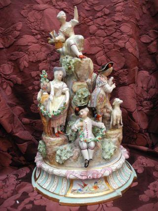 Große Porzellangruppe Nr.  1 Samson Paris Um 1880 Gärtnerkinder Originalzustand Bild
