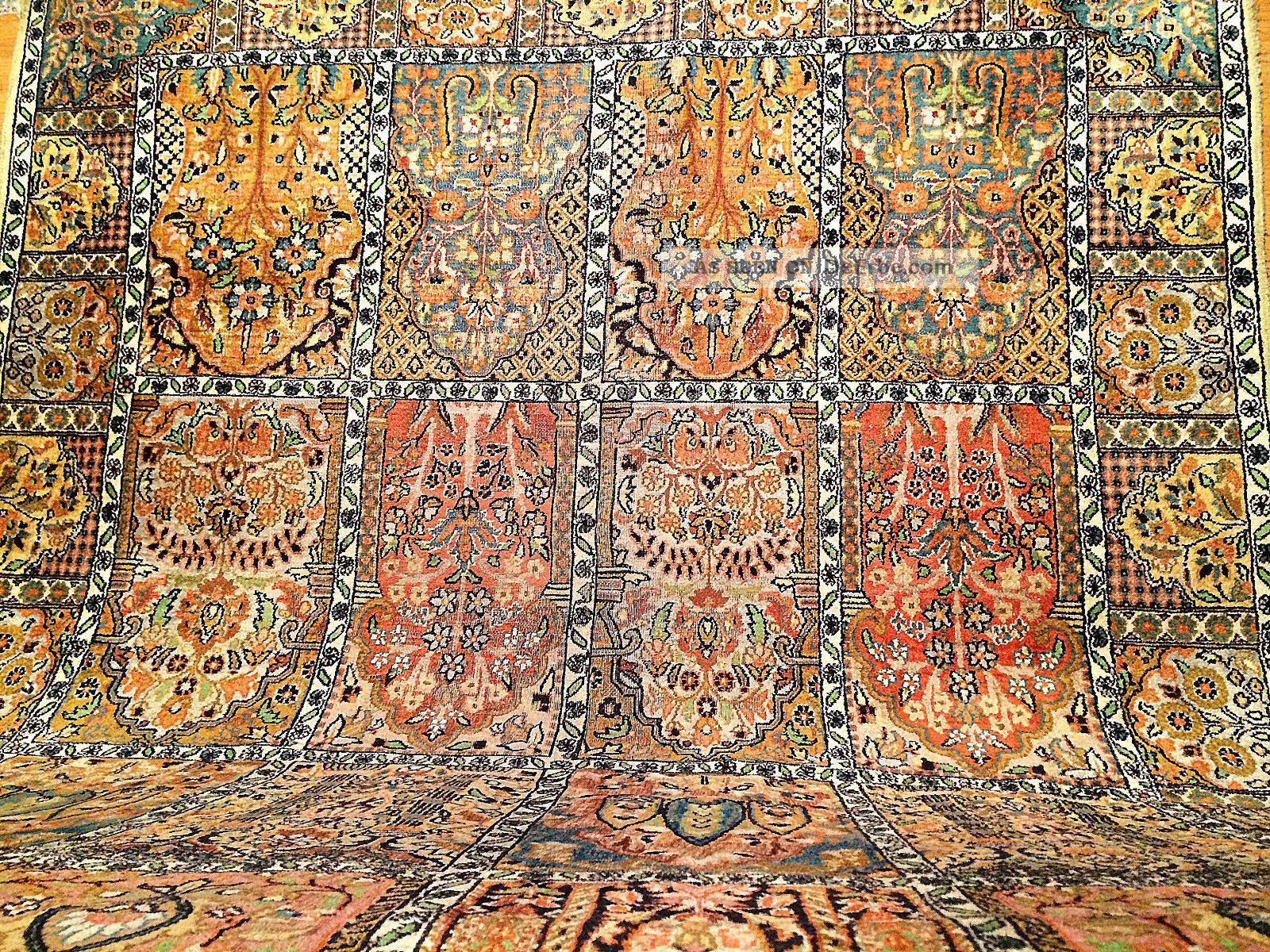 teppich handgekn pft kaschmir seide natur 190x133 cm carpet tappeto tapis top. Black Bedroom Furniture Sets. Home Design Ideas