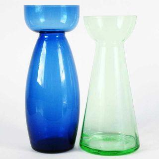 Hyazinthen - Vasen Grün,  Blau - 2 Stück - Dünnes Glas Bild
