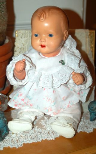Süsse Cellba Zelluloid Babypuppe - Puppe - Strampelchen - Gemarkt Nixe 34 Bild