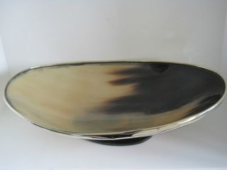 ♛ Ad/art Decor ♛ Exclusive,  Ovale Schale Aus Horn Mit Metallrand ♛ Corno ♛ Bild