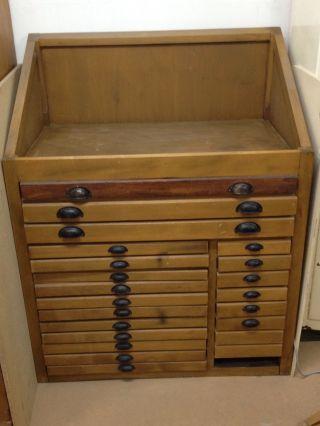 Setzschrank,  Druckerei,  Buchbinderei,  Antiquität,  Vintage Bild