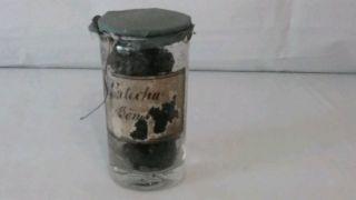Apotheke Antik Binderandglas Mit Papiertectur Bild