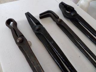 4 Grosse Schmiedezangen 50cm,  Sehr Gut Erhalten,  Schmiedewerkzeug,  Schmied Bild