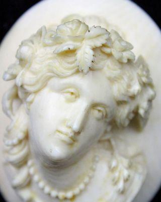 Biedermeier Brosche Meisterhafte Schnitzerei Damenbüste Tersenier Leon 1824 - 1889 Bild