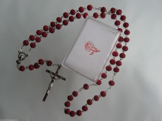 Rosenkranz,  Holz,  Kette,  Rosenduft Mit Röschenperlen In Dose Rosary Chaplet Bild