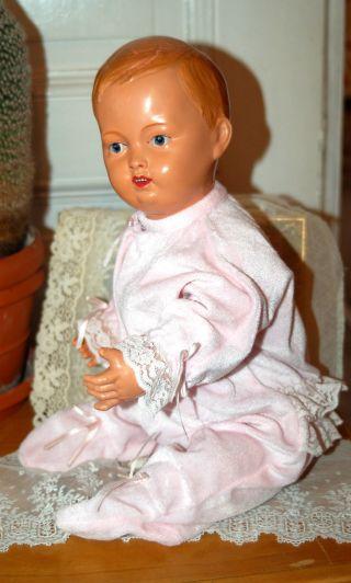 Rarität - Cellba Junge - Sitzbaby - Babypuppe - Gem.  D.  R.  P.  Nixe 45 - Um 1920 - Bild
