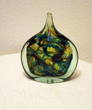 Mdina Michael Harris Malta Fishe Head Vase Glasvase Artglass Signiert Mdina Bild