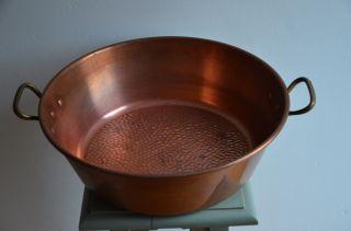 Marmeladenschüssel,  Kupfer,  Kupfertopf,  Kupferschüssel Frankreich Ca.  1,  6 Kg Bild