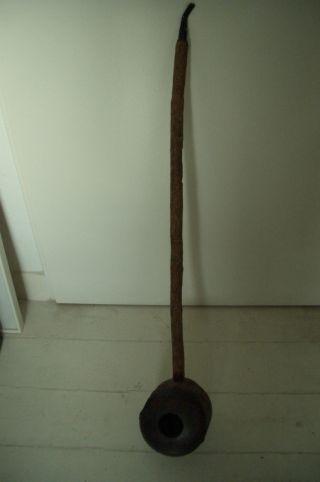 Alte,  Handgerfertigte Holz Pfeife Aus Brasilien,  Pfeifenstiel Ca.  70 Cm Lang Bild
