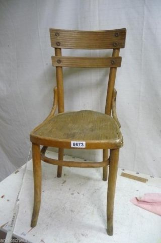 8673.  Alter Bugholz Stuhl Old Wooden Chair Bild
