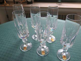 6 Stück Sektgläser - Sektflöten - Nachtmann Serie