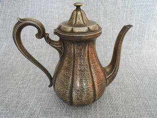 Antike Alte Kaffekanne / Kanne Quist Versilbert Bild