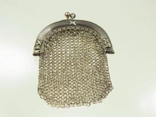 Schöne Antike Geldbörse Portemonnaie 925 Silber Mit Kreuzbanddekor Um 1930 Bild