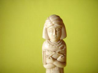 Statue Aus Bein Oder Knochen - HÖhe 15,  5 Cm - Alt & Schön.  Wohl Aus Ägypten Bild