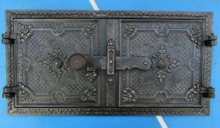 Antike Ofenplatte Ofentür Etagenofen Backofen Bild