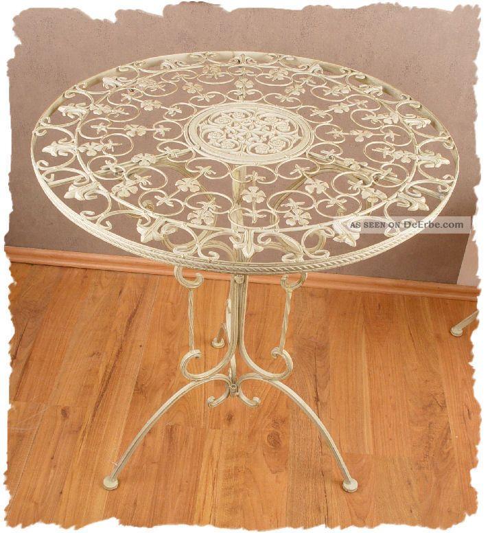 Gartentisch Weiss Tisch Shabby Chic Metalltisch Schmiedeeisen Eisentisch