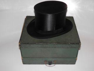 Antiker Zylinder Chapeau Claque Klappzylinder Gr 55 Ovp (gr 56 - 61 Gibts Im Shop) Bild