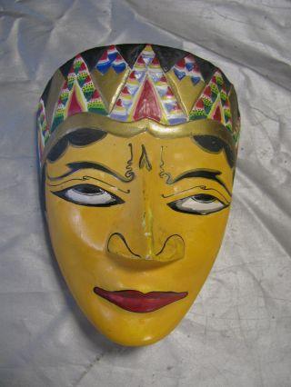 Reiseandenken Aus Bali,  Kleine Maske Aus Holz,  Handarbeit Bild