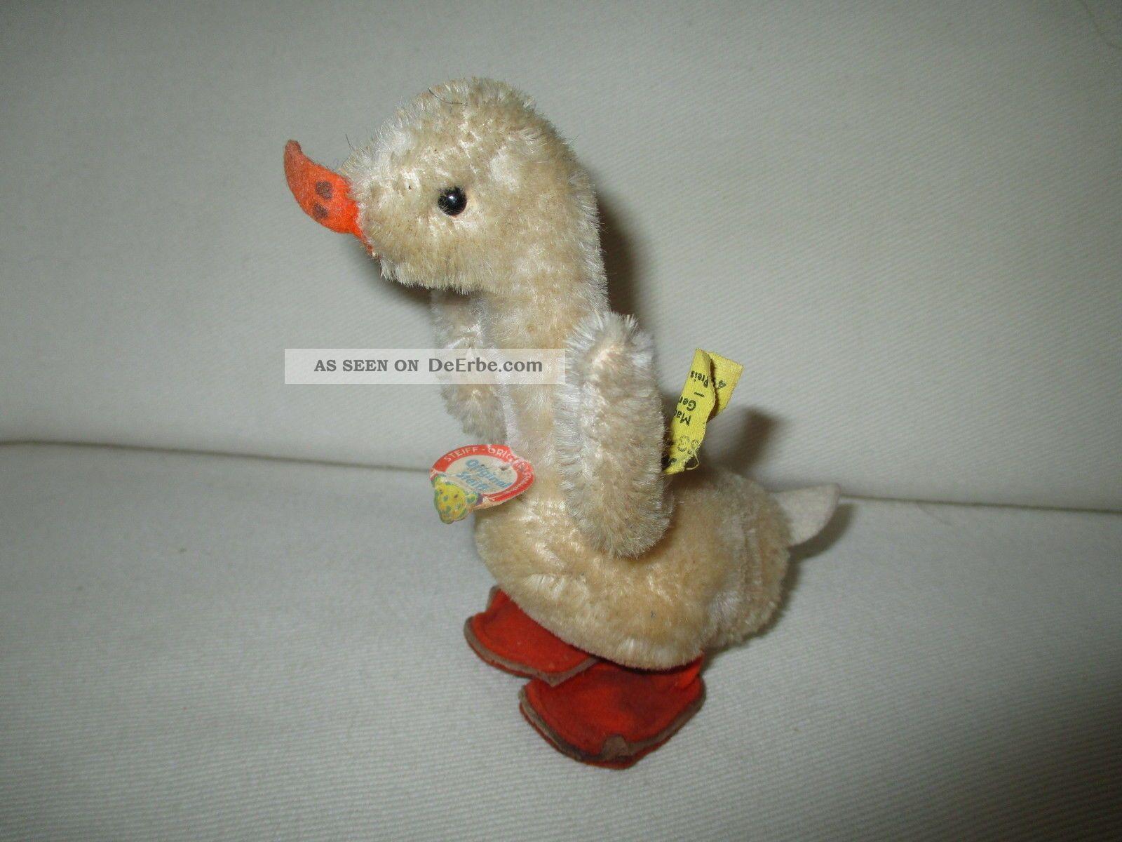Hübsche Plüsch - Ente Der Marke Steiff 60er Jahre Stofftiere & Teddybären Bild